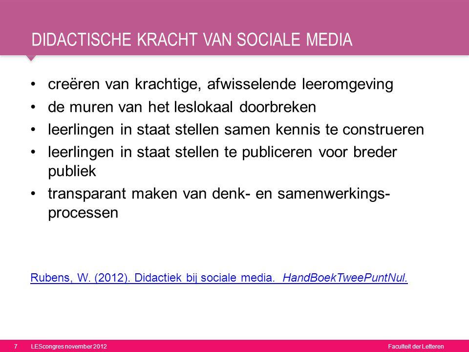 Didactische kracht van sociale media