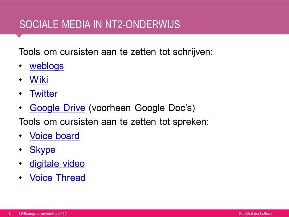 sociale media in nt2-onderwijs