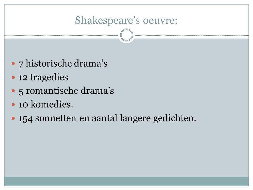 Shakespeare's oeuvre: