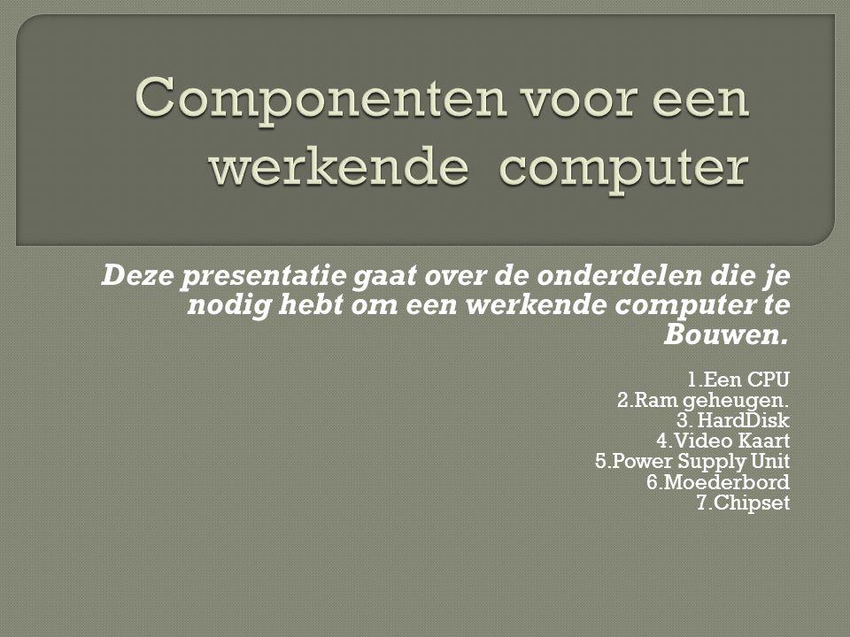 Componenten voor een werkende computer