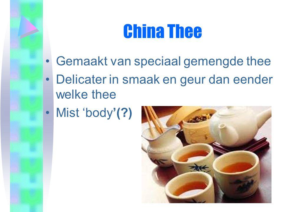 China Thee Gemaakt van speciaal gemengde thee