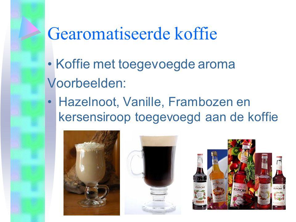 Gearomatiseerde koffie