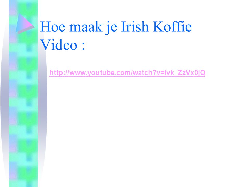 Hoe maak je Irish Koffie Video :