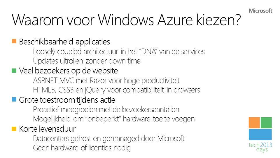 Waarom voor Windows Azure kiezen