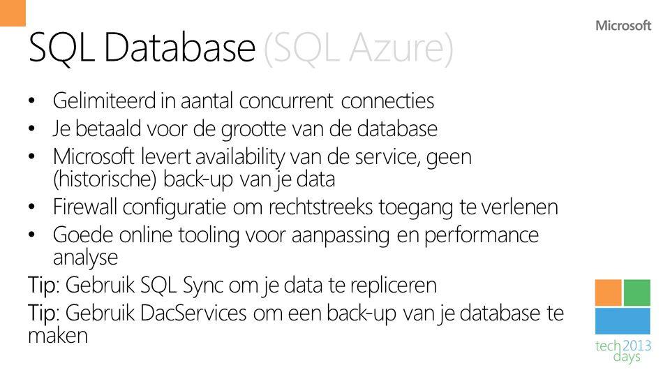SQL Database (SQL Azure)