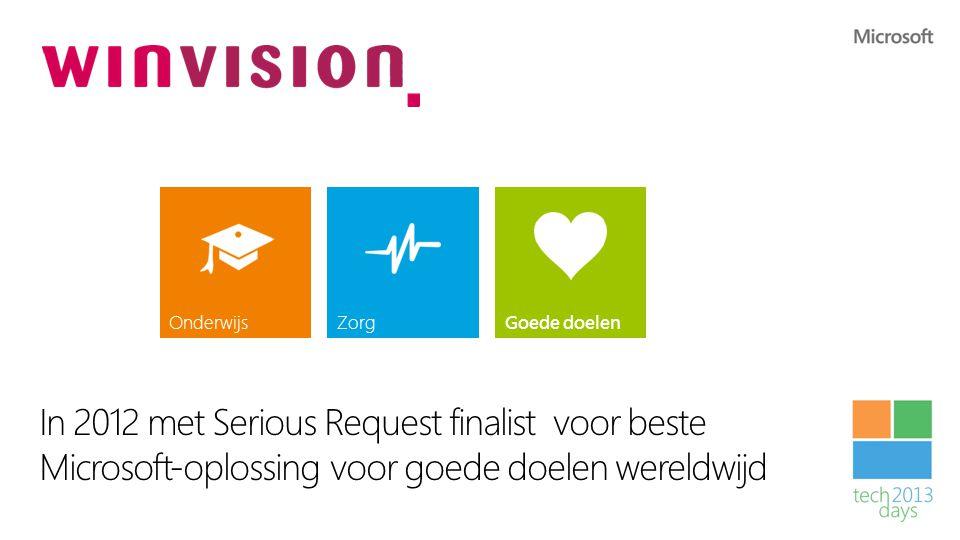 Winvision In 2012 met Serious Request finalist voor beste Microsoft-oplossing voor goede doelen wereldwijd.