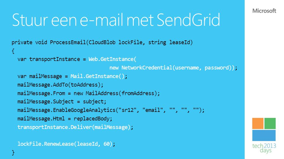 Stuur een e-mail met SendGrid