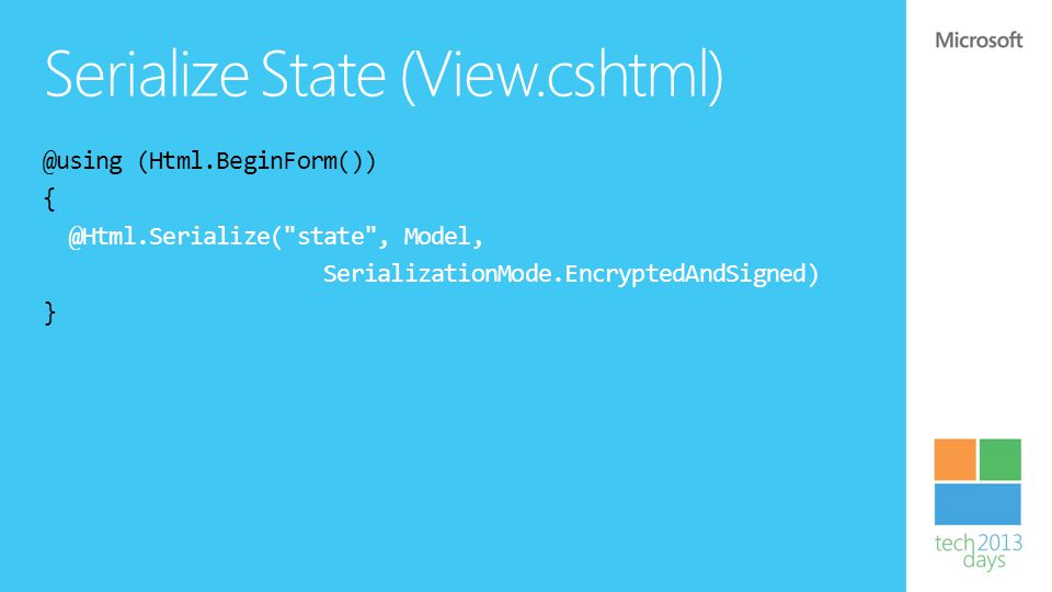 Serialize State (View.cshtml)