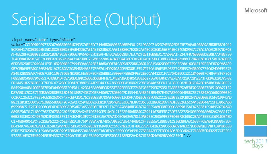 Serialize State (Output)