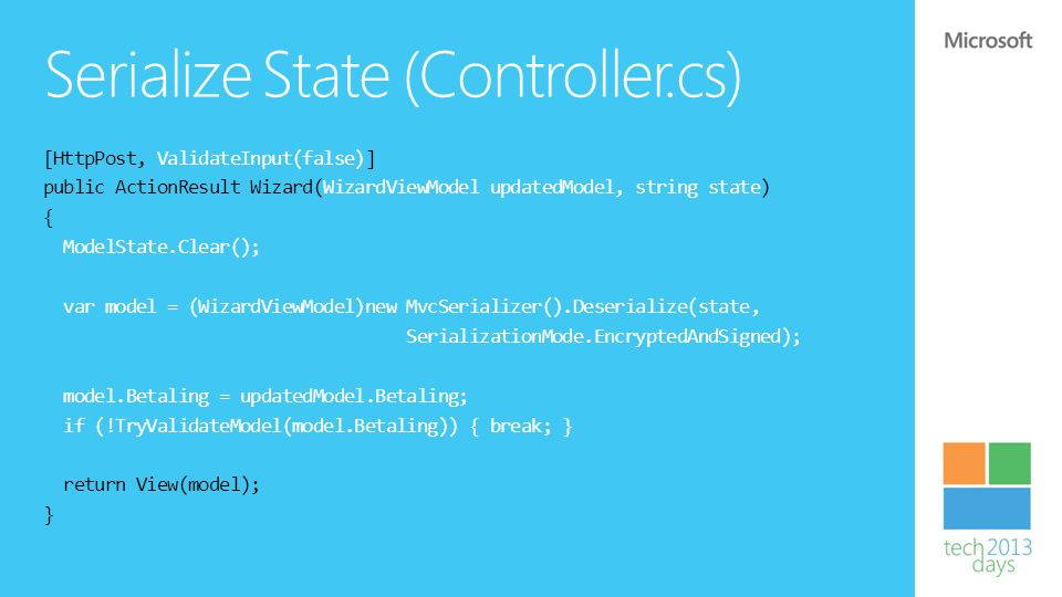 Serialize State (Controller.cs)