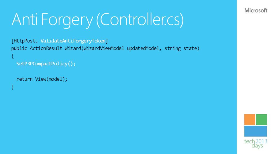 Anti Forgery (Controller.cs)