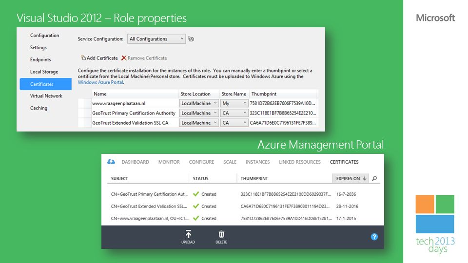 Visual Studio 2012 – Role properties