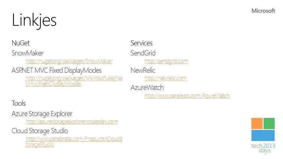 Linkjes NuGet Services SnowMaker SendGrid