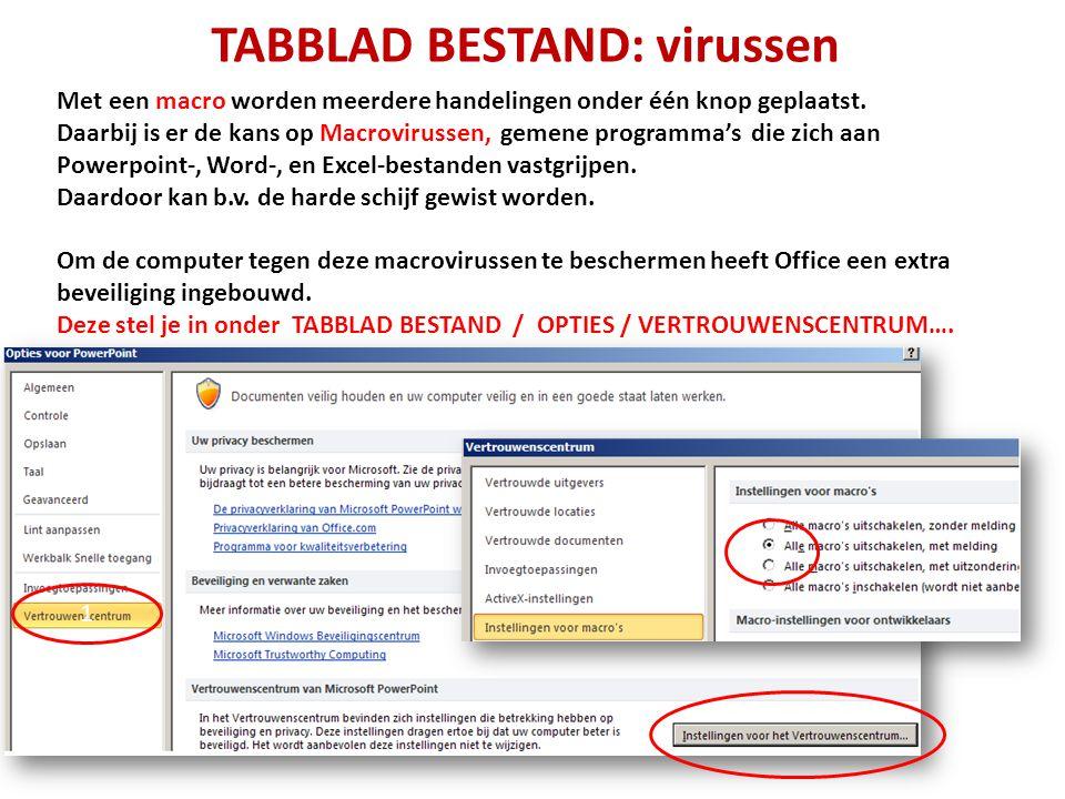 TABBLAD BESTAND: virussen