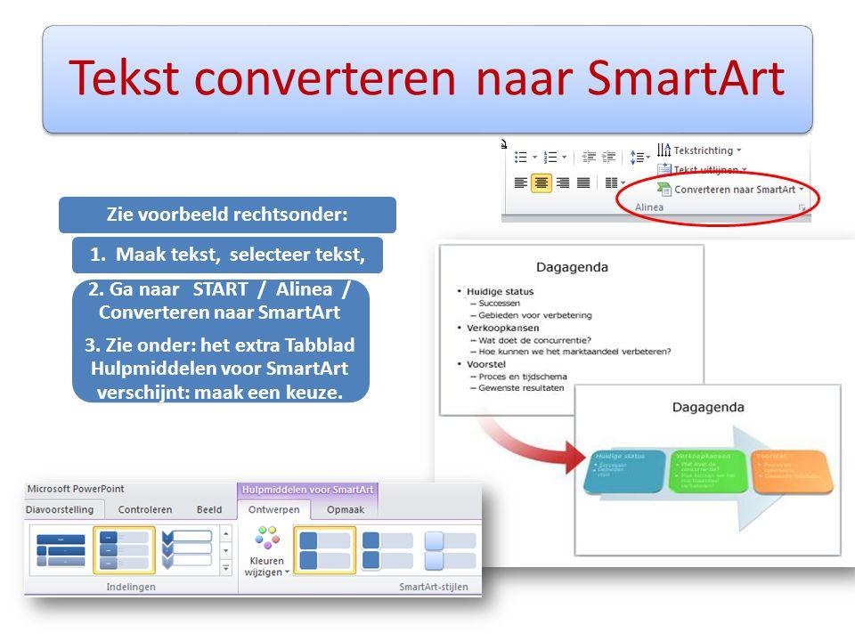 Tekst converteren naar SmartArt