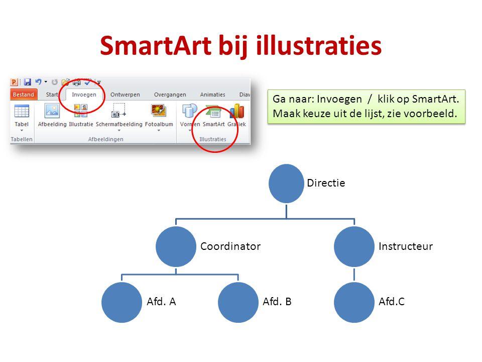 SmartArt bij illustraties