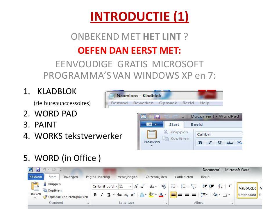 EENVOUDIGE GRATIS MICROSOFT PROGRAMMA'S VAN WINDOWS XP en 7: