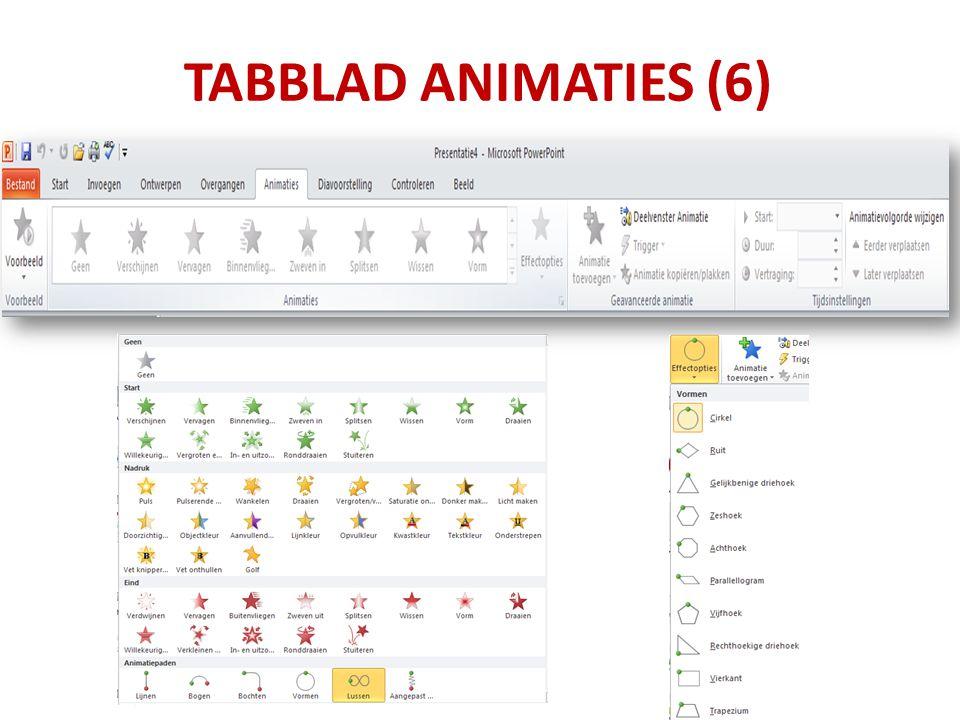 TABBLAD ANIMATIES (6)