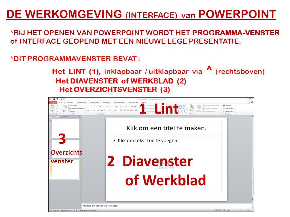 1 Lint 3 2 Diavenster of Werkblad