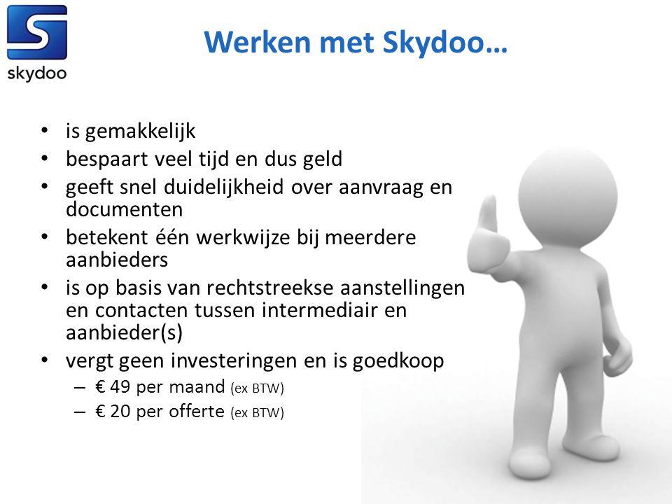Werken met Skydoo… is gemakkelijk bespaart veel tijd en dus geld