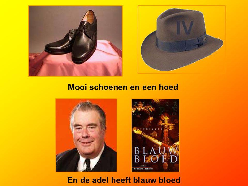 Mooi schoenen en een hoed En de adel heeft blauw bloed