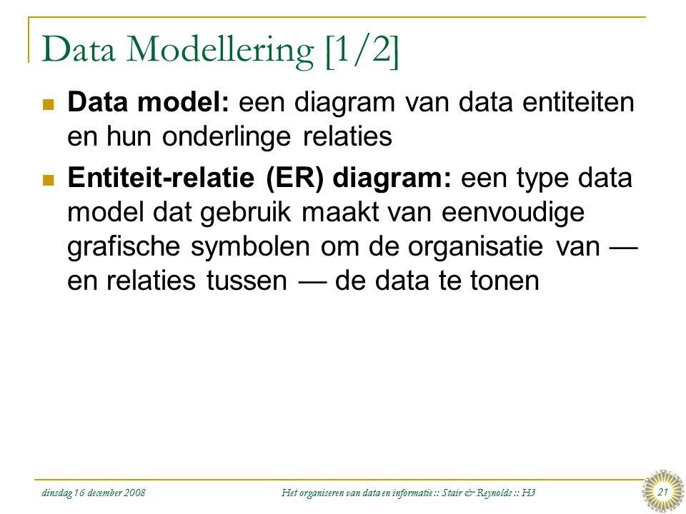 Het organiseren van data en informatie :: Stair & Reynolds :: H3