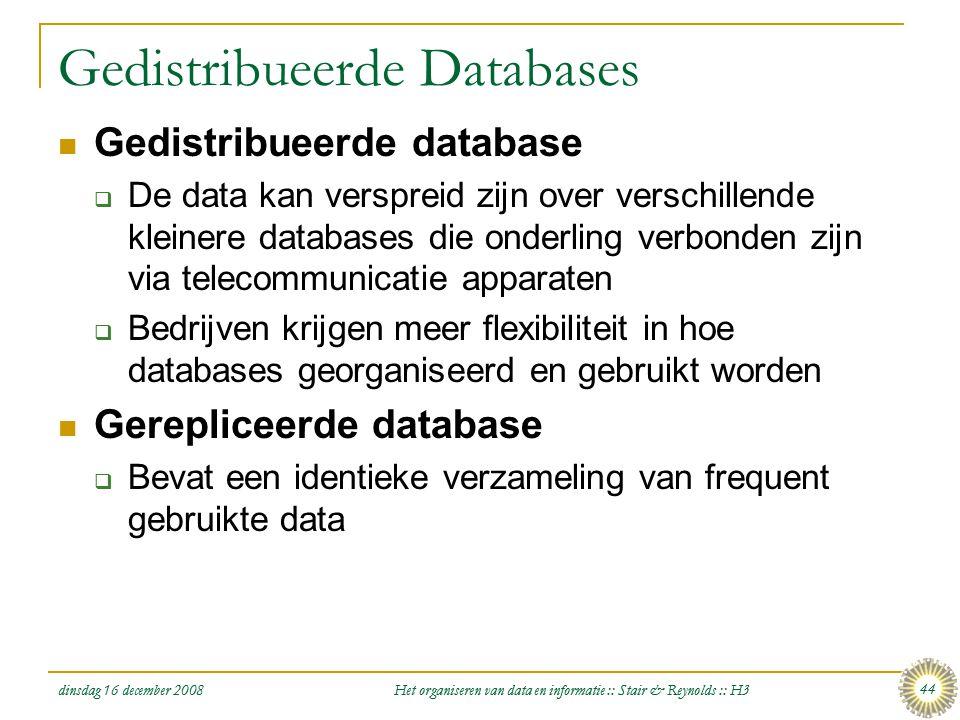 Gedistribueerde Databases