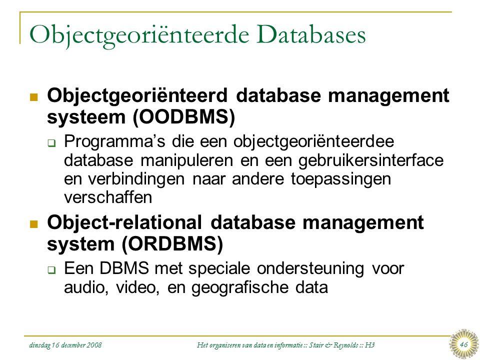 Objectgeoriënteerde Databases