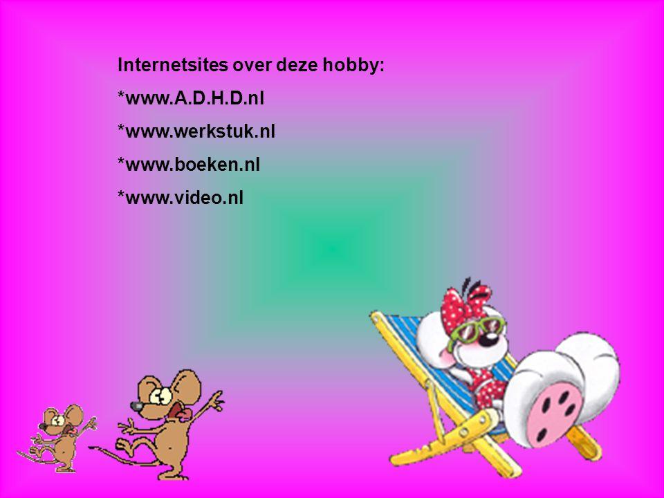 Internetsites over deze hobby: *www.A.D.H.D.nl *www.werkstuk.nl