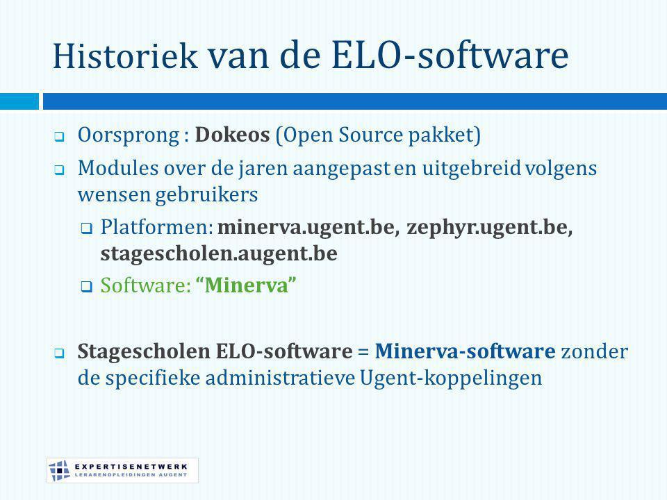 Historiek van de ELO-software