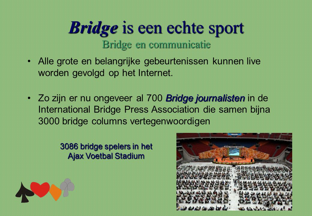 Bridge is een echte sport Bridge en communicatie