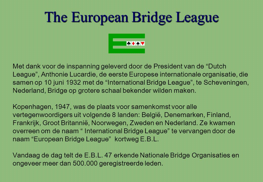 The European Bridge League