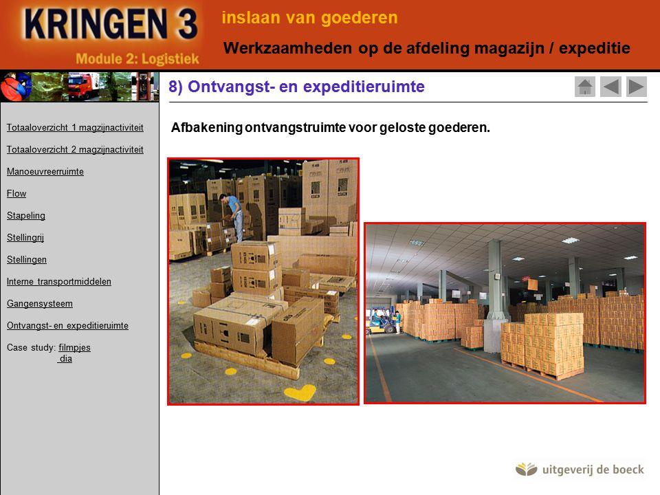 inslaan van goederen Werkzaamheden op de afdeling magazijn / expeditie