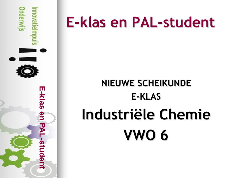 Industriële Chemie VWO 6