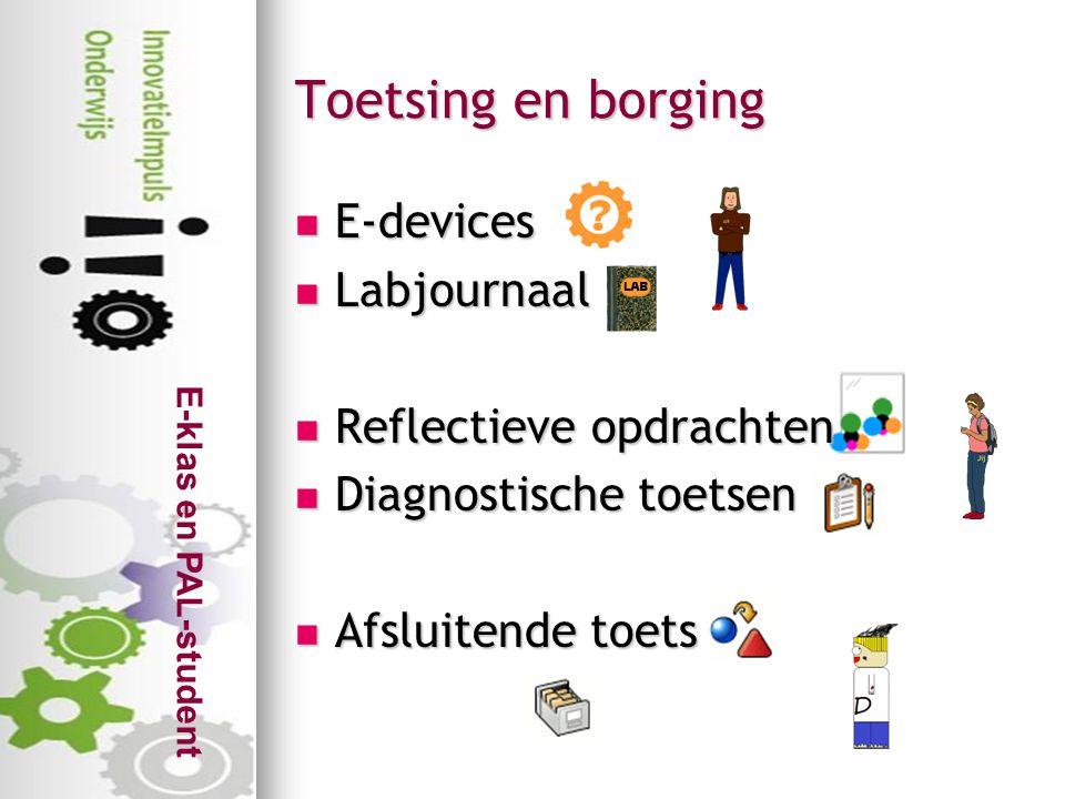 Toetsing en borging E-devices Labjournaal Reflectieve opdrachten