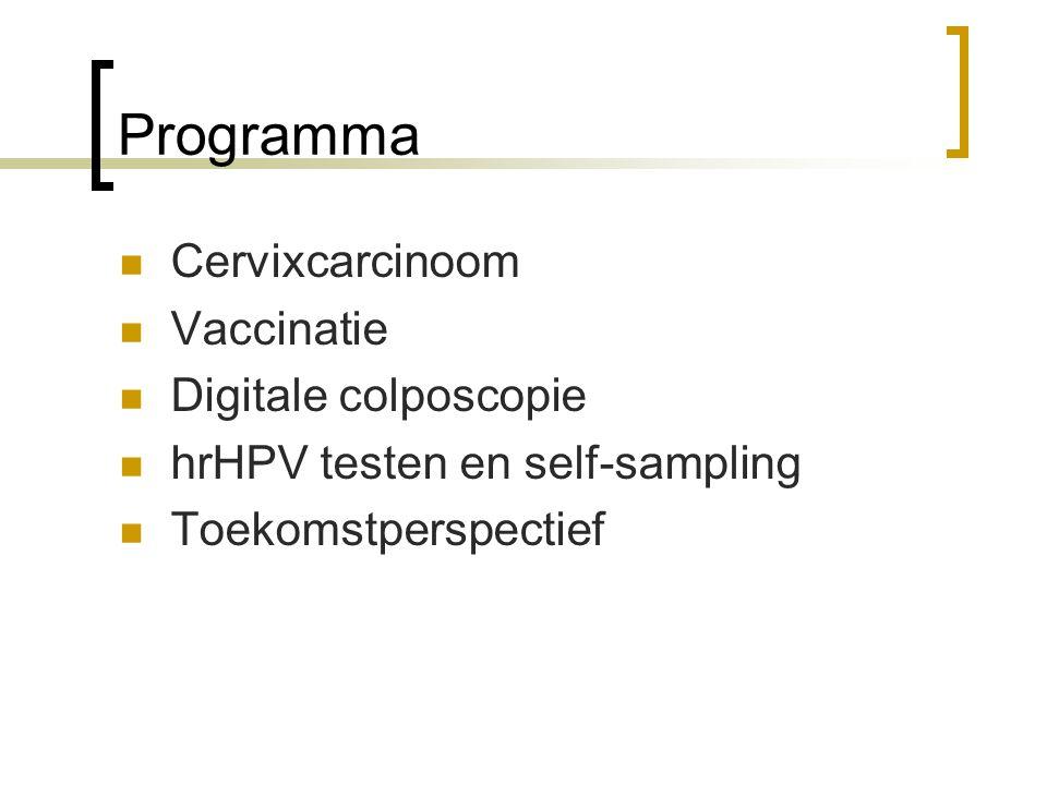 Programma Cervixcarcinoom Vaccinatie Digitale colposcopie