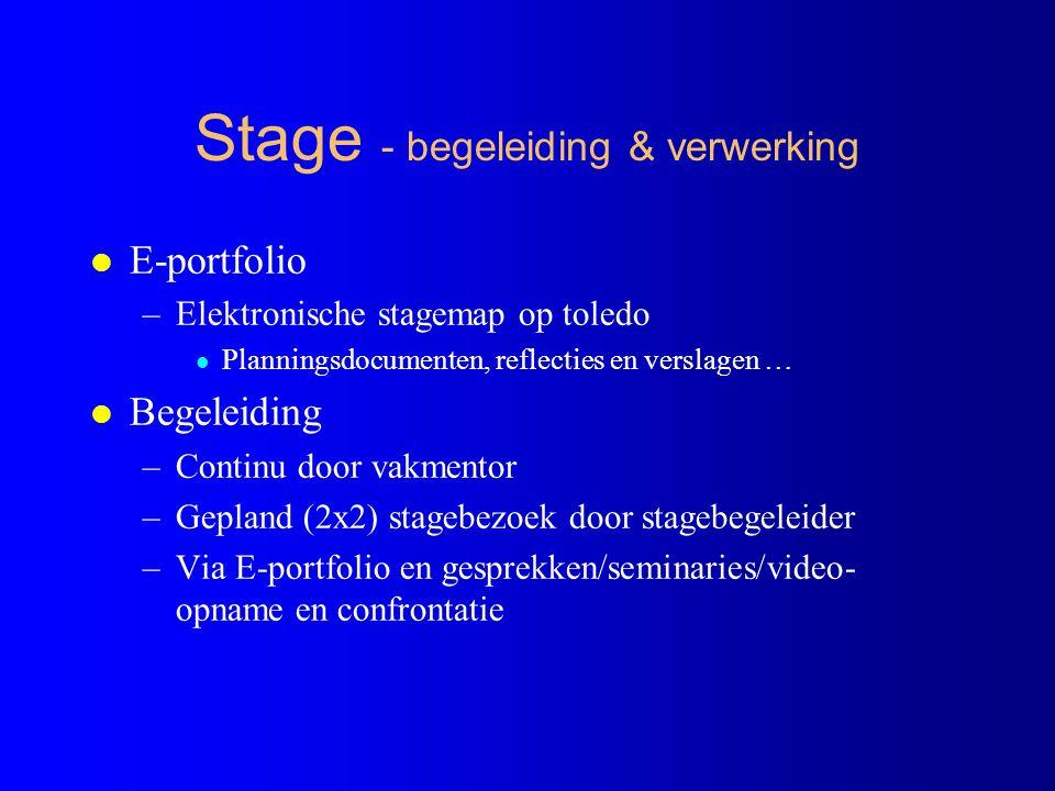 Stage - begeleiding & verwerking