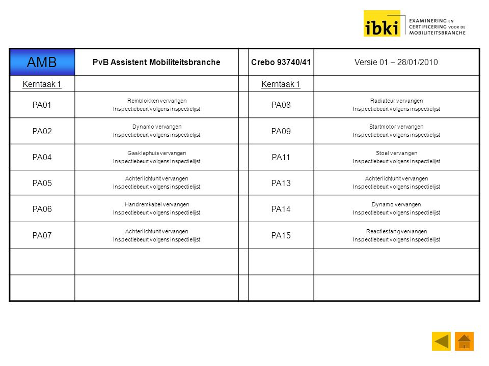 PvB Assistent Mobiliteitsbranche