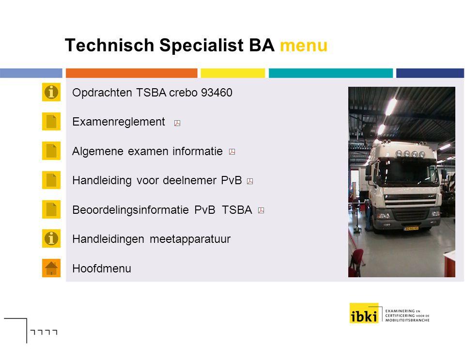 Technisch Specialist BA menu