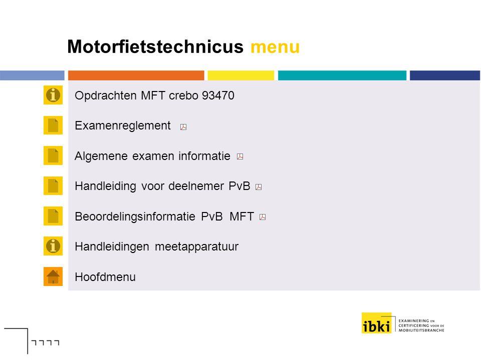 Motorfietstechnicus menu