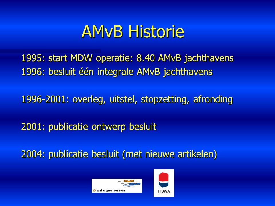AMvB Historie 1995: start MDW operatie: 8.40 AMvB jachthavens