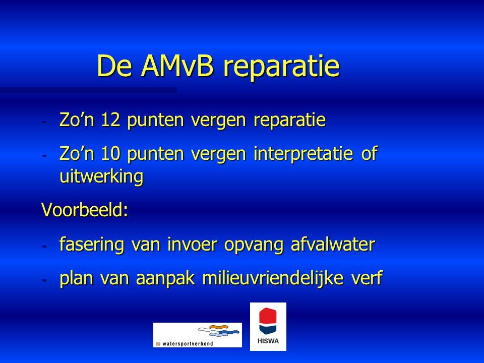 De AMvB reparatie Zo'n 12 punten vergen reparatie