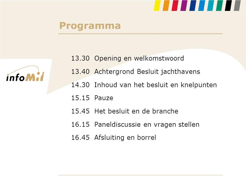 Programma 13.30 Opening en welkomstwoord