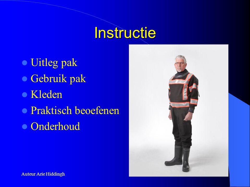 Instructie Uitleg pak Gebruik pak Kleden Praktisch beoefenen Onderhoud