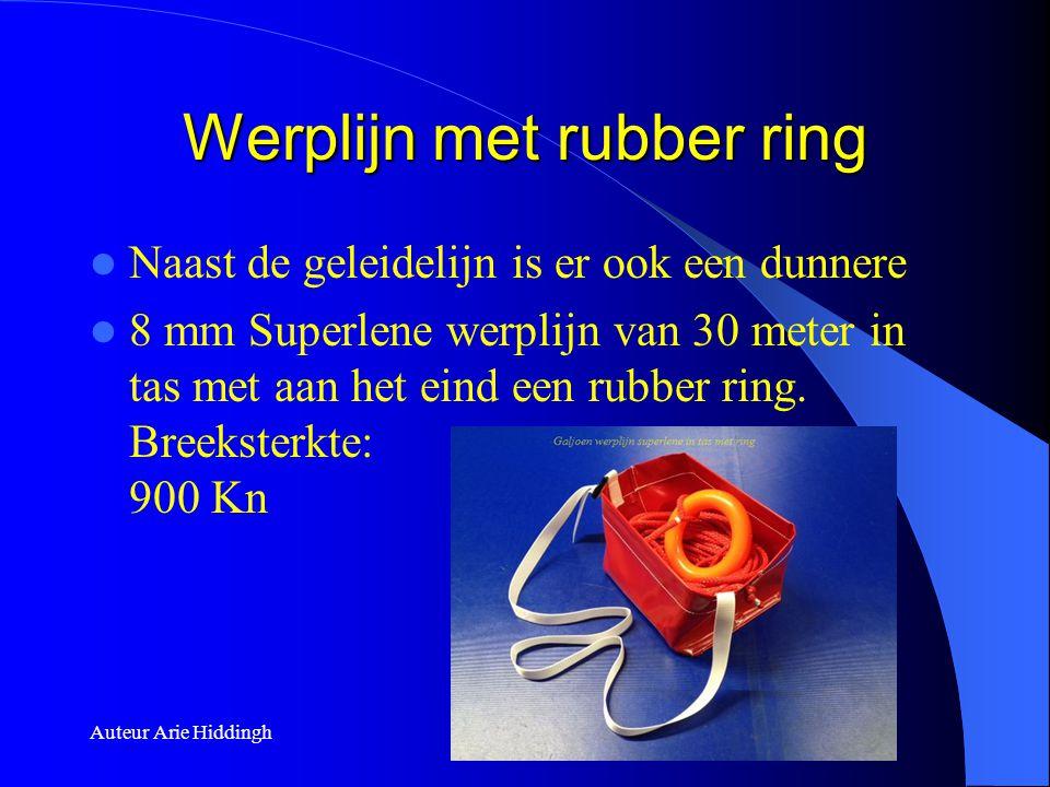 Werplijn met rubber ring