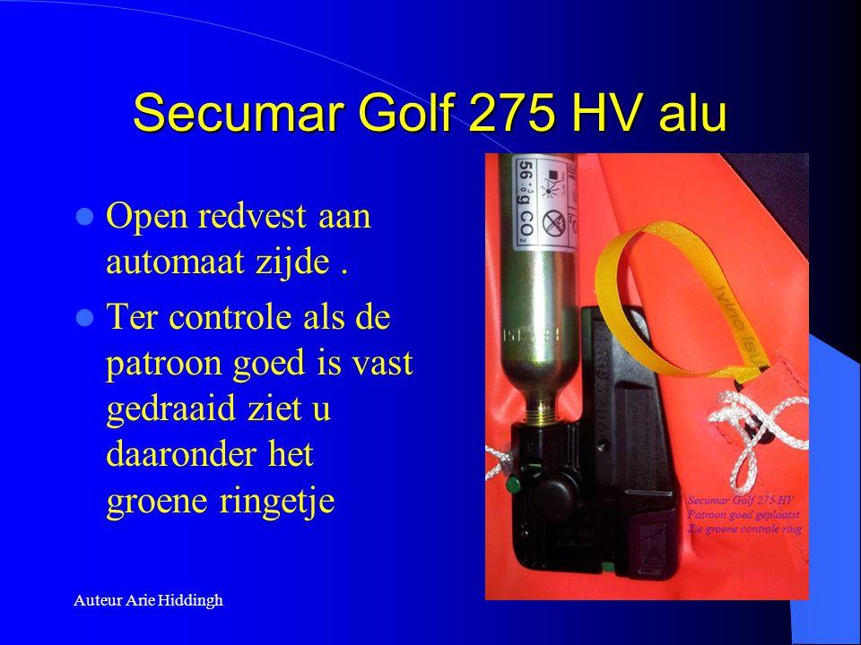 Secumar Golf 275 HV alu Open redvest aan automaat zijde .