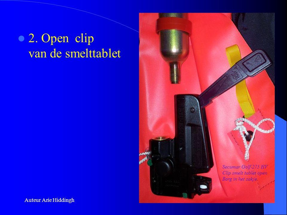 2. Open clip van de smelttablet