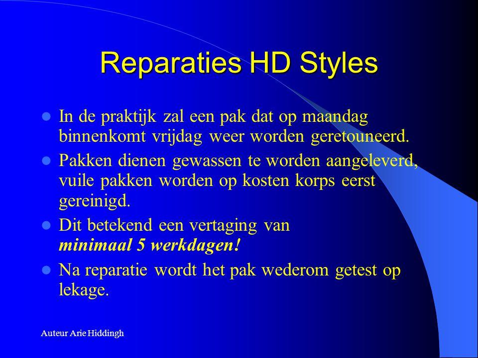 Reparaties HD Styles In de praktijk zal een pak dat op maandag binnenkomt vrijdag weer worden geretouneerd.