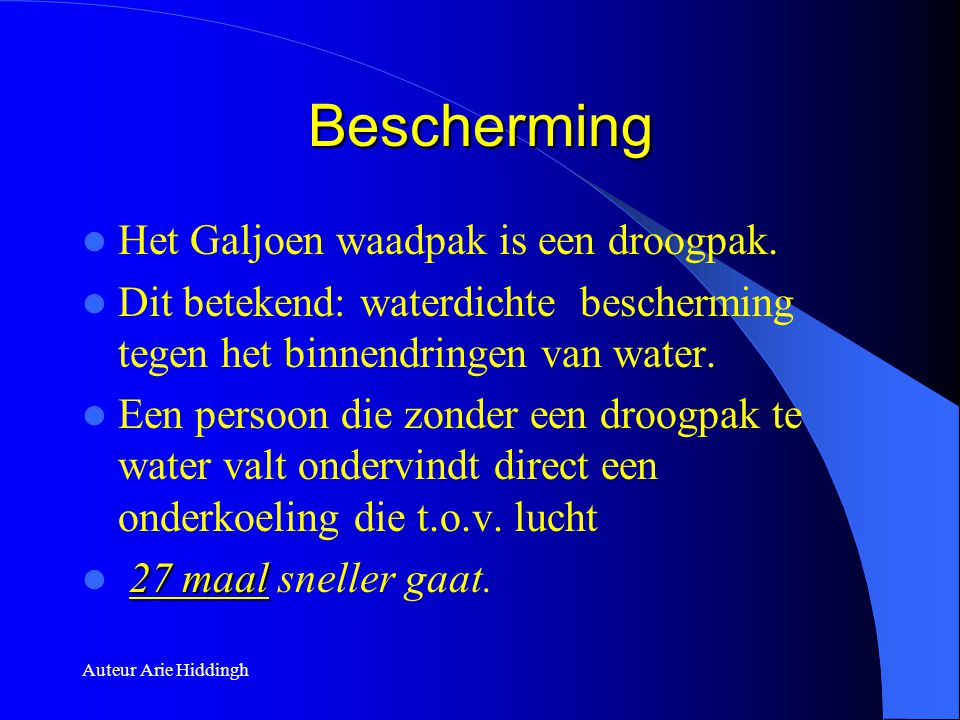 Bescherming Het Galjoen waadpak is een droogpak.