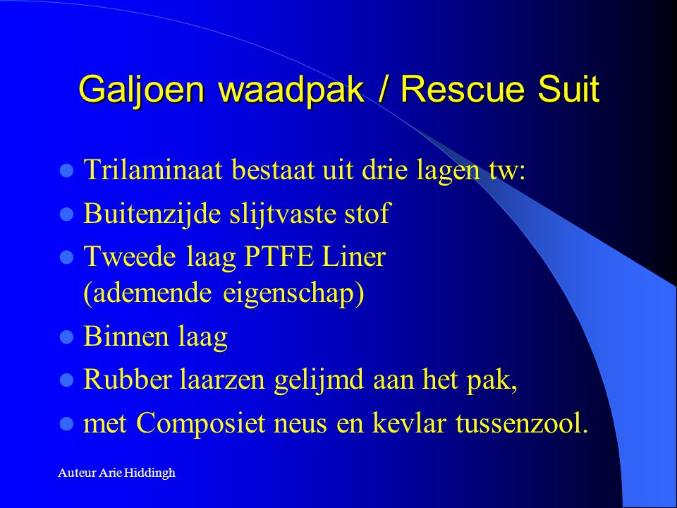 Galjoen waadpak / Rescue Suit